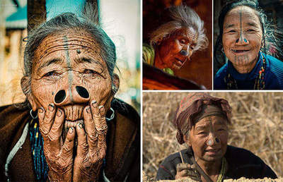 An old tradition: the nasal sleeve women people apatani people