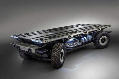 In General Motors developed the unmanned cargo platform on hydrogen
