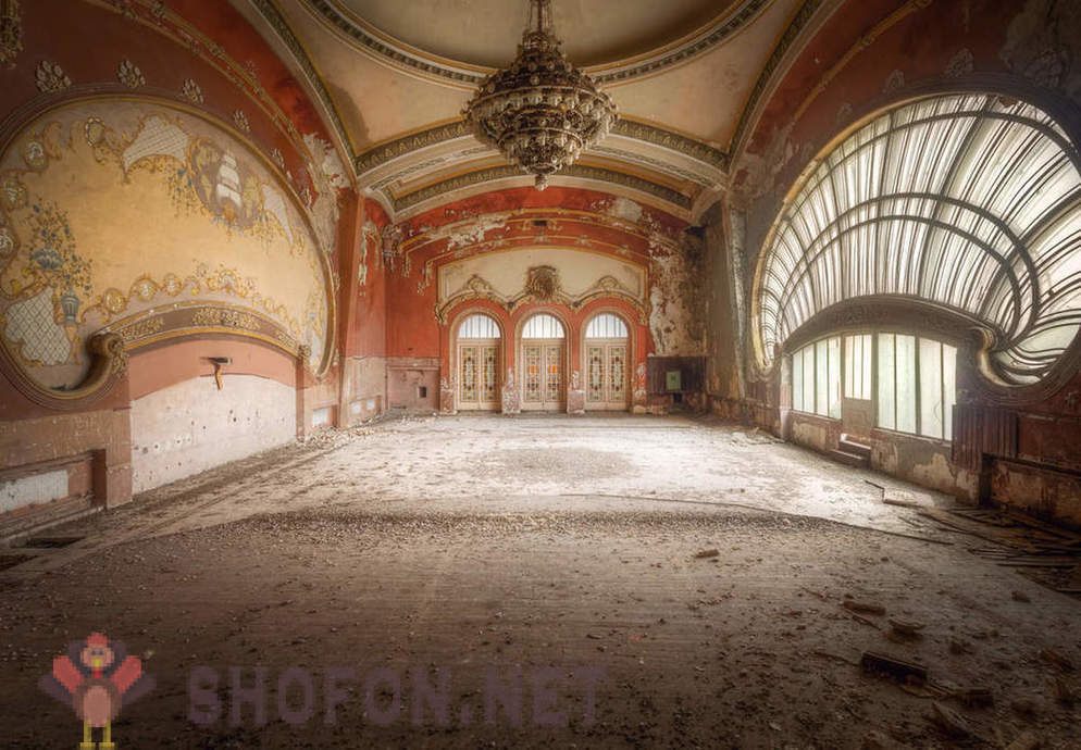 Abandoned casino on the Black Sea