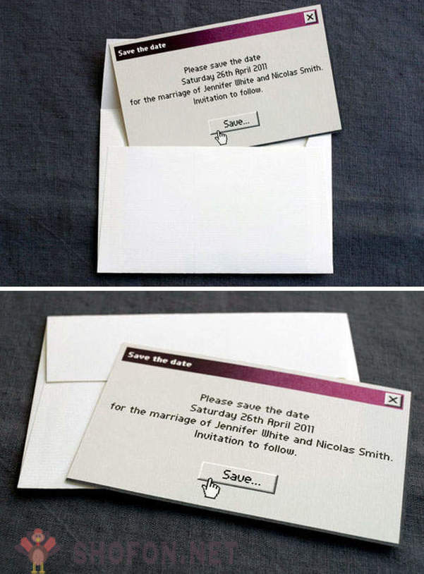 Original wedding invitation you can not refuse